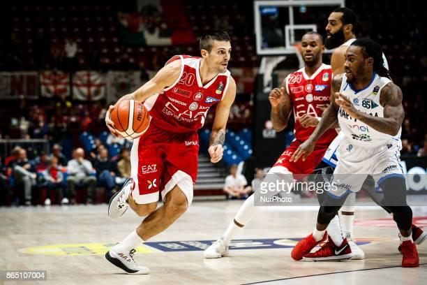Andrea Cinciarini drives to the basket during a basketball game of Poste Mobile Lega Basket A between EA7 Emporio Armani Milano vs Happy Casa...