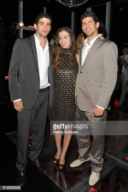 Andrea Clemente Chiara Clemente and Pietro Clemente attend SALVATORE FERRAGAMO ATTIMO Launch Event at The Standard Hotel on June 30 2010 in New York...
