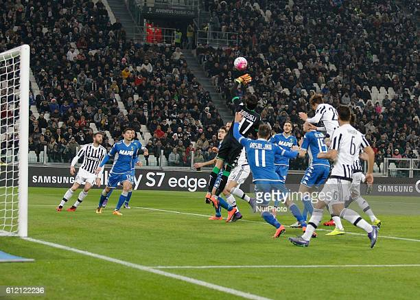 Andrea Consigli during the serie A match between Juventus FC and US Sassuolo Calcio at the Juventus Stadium of Turin on march 11 2016 in Torino italy
