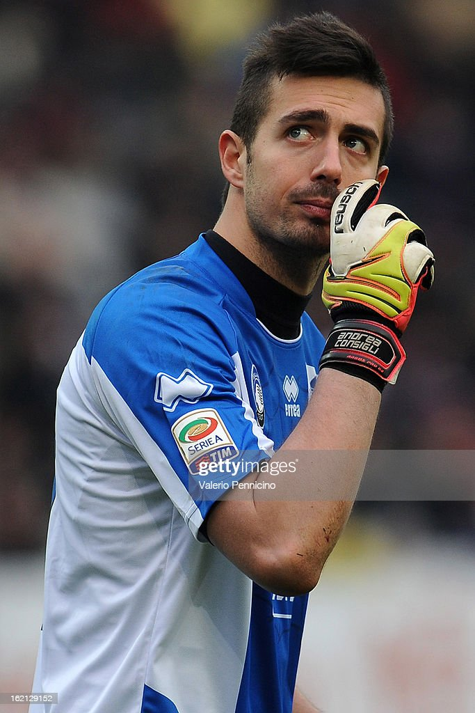 Andrea Consigli of Atalanta BC looks on during the Serie A match between Torino FC and Atalanta BC at Stadio Olimpico di Torino on February 17, 2013 in Turin, Italy.