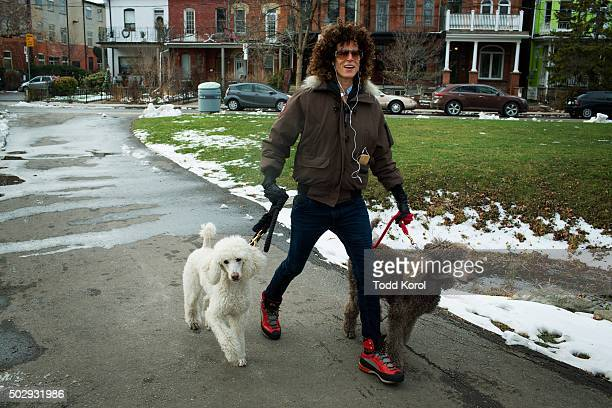 Andrea Constand walks her dogs through a park near the Trinity Community Recreation Centre park in Toronto Ontario Constand accused Cosby of sexual...