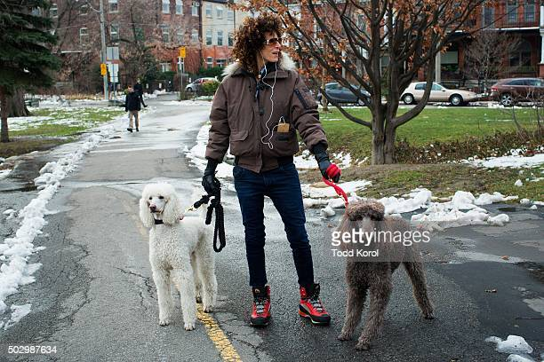 Andrea Constand walks her dogs through a park near the Trinity Community Recreation Centre in Toronto Ontario Constand accused Cosby of sexual...