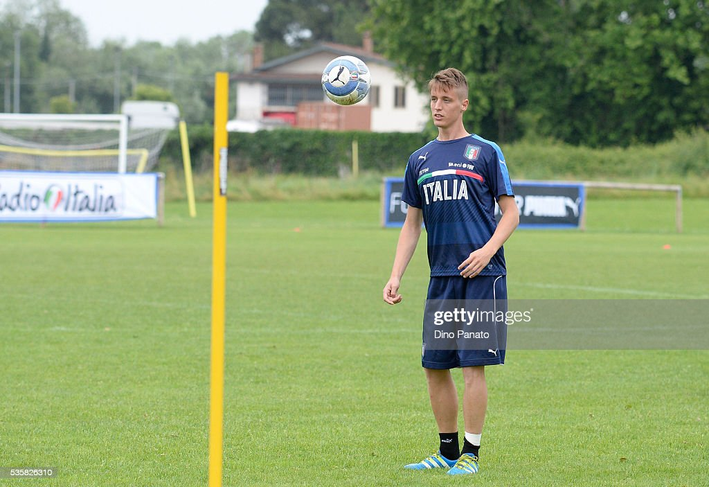 Andrea Conte of Italy U21 during Training Session at stadio Comunale on May 30, 2016 in Mestre, Italy.