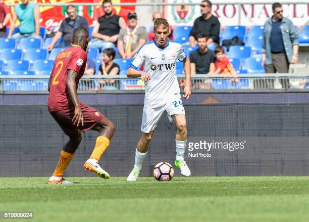 Andrea Conti during the Italian Serie A football match between AS Roma and AC Atalanta at the Olympic Stadium in Rome on april 15 2017