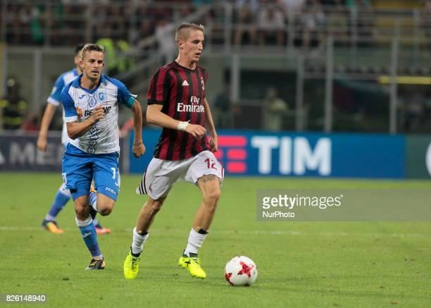 Andrea Conti during the preliminaries of Europa League 2017/2018 match between Milan v Craiova in Milan on august 3 2017