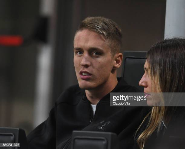 Andrea Conti of AC Milan attends the Serie A match between AC Milan and Spal at Stadio Giuseppe Meazza on September 20 2017 in Milan Italy