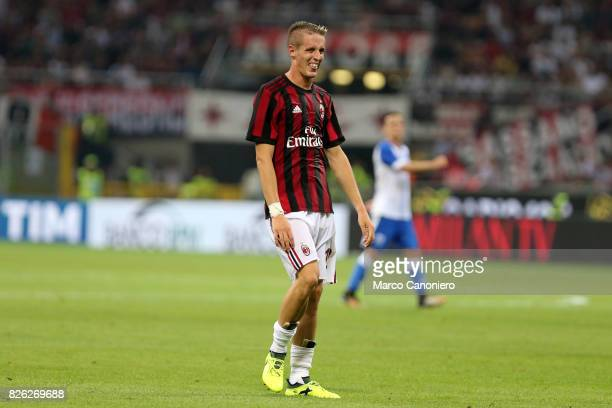 Andrea Conti of Ac Milan during the UEFA Europa League Third Qualifying Round Second Leg match between AC Milan and CSU Craiova AC Milan won 20 on...