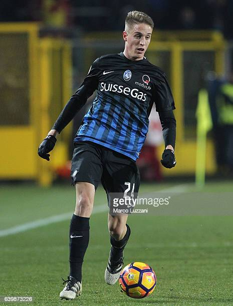Andrea Conti of Atalanta BC in action during the Serie A match between Atalanta BC and UC Sampdoria at Stadio Atleti Azzurri d'Italia on January 22...