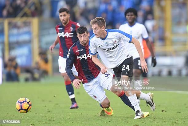 Andrea Conti of Atalanta BC in action during the Serie A match between Bologna FC and Atalanta BC at Stadio Renato Dall'Ara on November 27 2016 in...