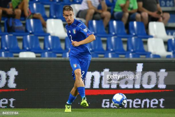 Andrea Conti of Italy during the FIFA World Cup 2018 qualification football match between Italy and Israel at Mapei Stadium in Reggio Emilia on...
