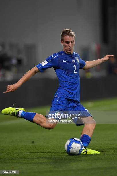 Andrea Conti of Italy in action during the FIFA 2018 World Cup Qualifier between Italy and Israel at Mapei Stadium Citta' del Tricolore on September...