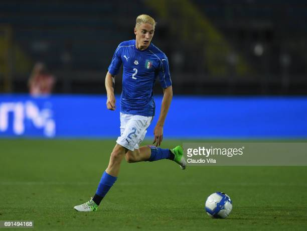 Andrea Conti of Italy in action during the international friendy match played between Italy and San Marino at Stadio Carlo Castellani on May 31 2017...