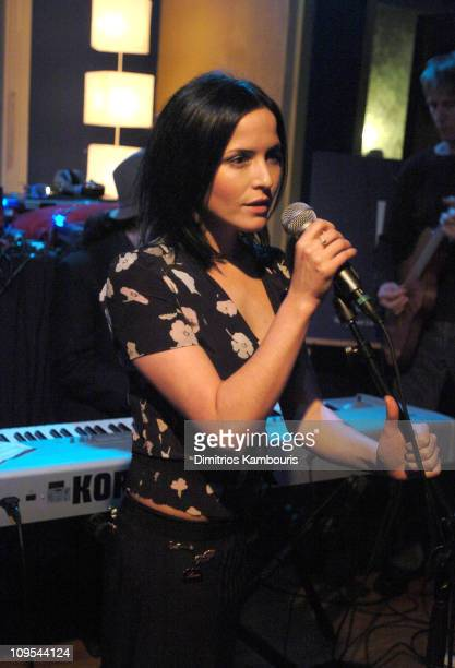 Andrea Corr during 2004 Park City Paradigm party at the SKYY View Lounge at Skyy View Lounge in Park City Utah United States
