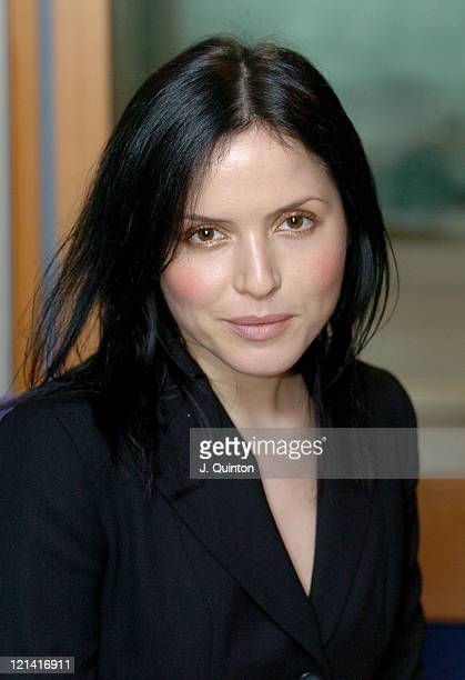 Andrea Corr during Andrea Corr Visits Capital FM As Part Of UK Radio Aid at Capital Radio in London Great Britain