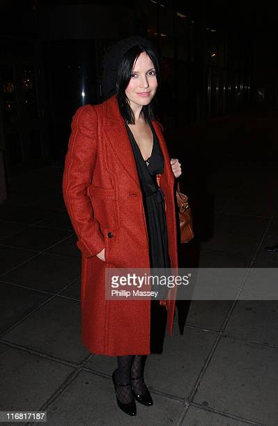 Andrea Corr leaves the 'Late Late Show' at RTE Studios on February 22 2008 in Dublin Ireland