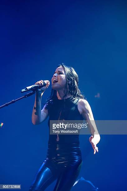 Andrea Corr of The Corrs at Genting Arena on January 19 2016 in Birmingham England