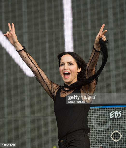 Andrea Corr of The Corrs performs at BBC Radio 2 Live In Hyde Park at Hyde Park on September 13 2015 in London England