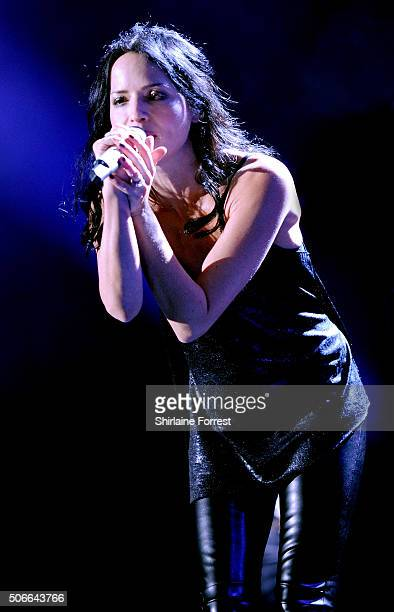 Andrea Corr of The Corrs performs at Manchester Arena on January 24 2016 in Manchester England