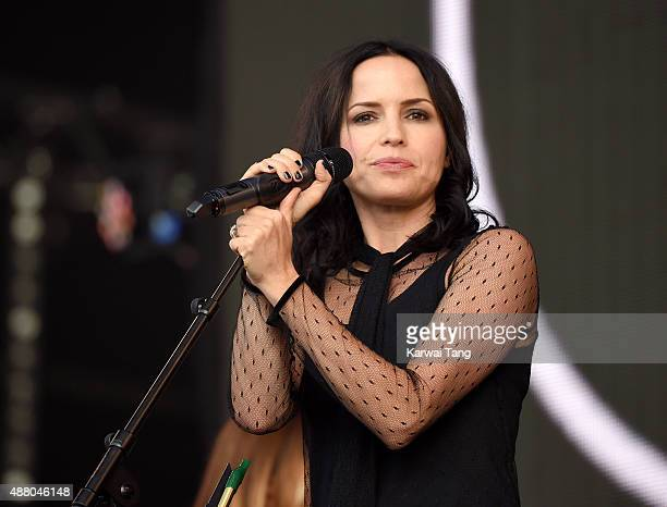 Andrea Corr of The Corrs performs at the BBC Radio 2 Live In Hyde Park Concert at Hyde Park on September 13 2015 in London England