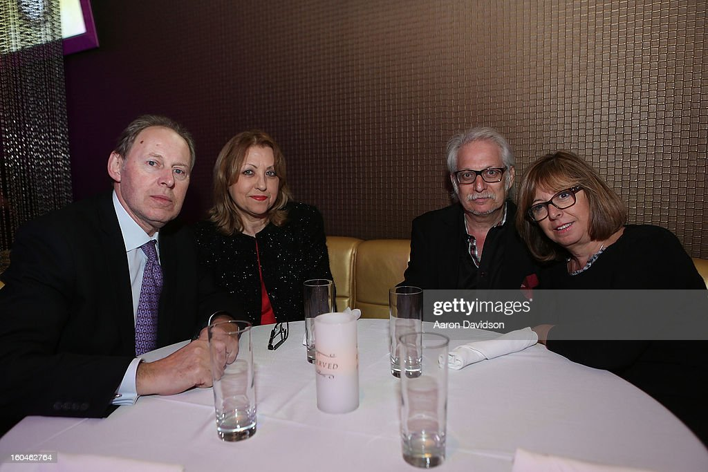 Andrea Cortellazzi, Suzy Cortellazzi, Michel Zgarka and Simone Zgarka attend The Florida Media Market 2013 Event at Room Service on January 31, 2013 in Miami Beach, Florida.