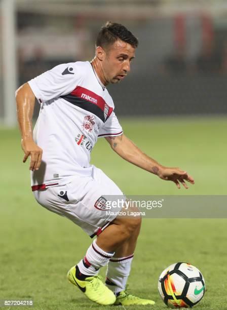 Andrea Cossu of Cagliari during the PreSeason Friendly match between FC Crotone and Cagliari Calcio at Stadio Comunale Ezio Scida on August 5 2017 in...