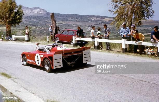 Andrea de AdamichToine Hezeman's Alfa Romeo T33TT3 finished 3rd Targa Florio Sicily 21 May 1972