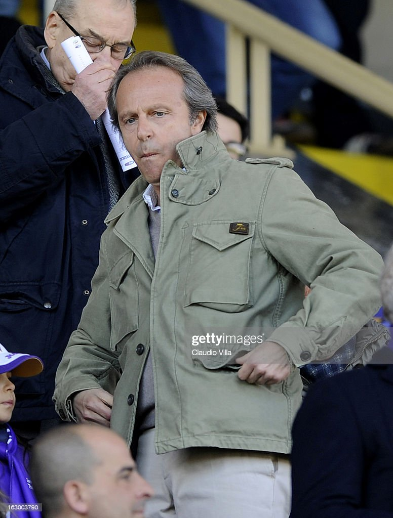 Andrea Della Valle, president of ACF Fiorentina attends the Serie A match between ACF Fiorentina and AC Chievo Verona at Stadio Artemio Franchi on March 3, 2013 in Florence, Italy.