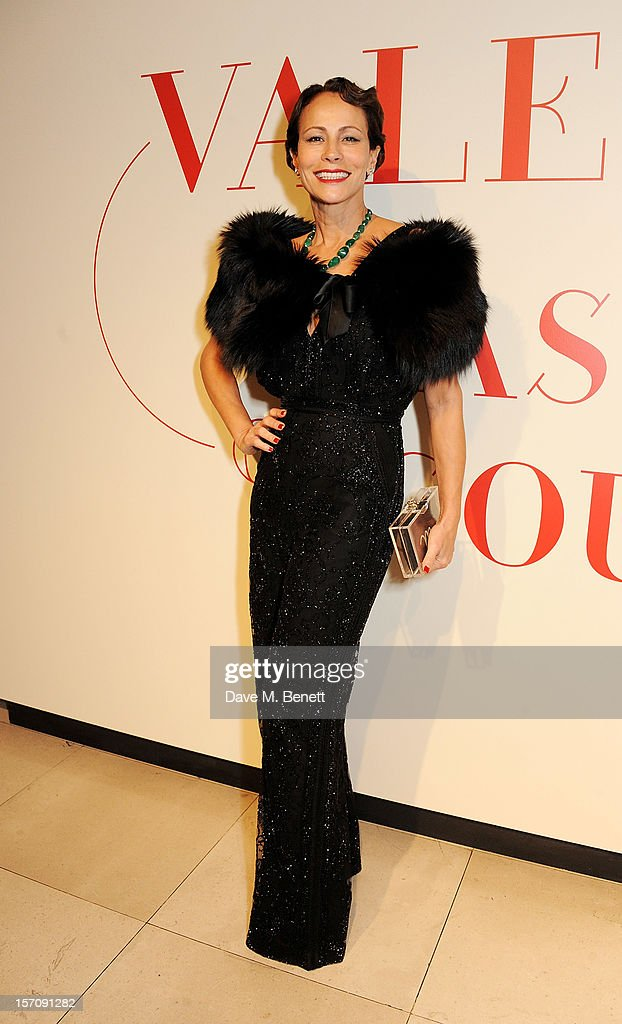 Andrea Dellal attends a private view of 'Valentino: Master Of Couture', exhibiting from November 29th, 2012 - March 3, 2013, at Somerset House on November 28, 2012 in London, England.