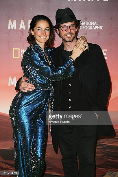 Andrea Delogu and Francesco Montanari attend the premiere of 'Marte' at The Space Moderno on November 8 2016 in Rome Italy