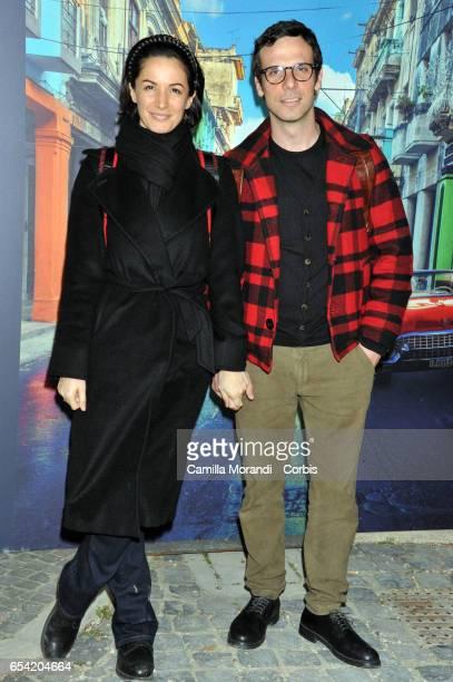 Andrea Delogu and Francesco Montanari walk the red carpet for 'Non e' Un Paese Per Giovani' on March 16 2017 in Rome Italy