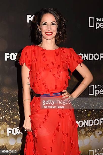 Andrea Delogu attends Fox Tv schedule presentation on November 30 2016 in Milan Italy