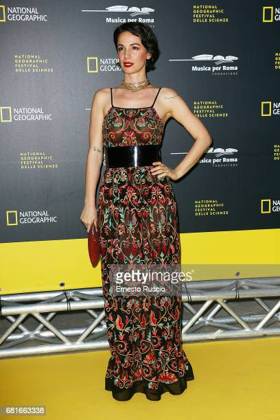 Andrea Delogu attends National Geographic's 'Genius Einstein' photocall at Auditorium Parco Della Musica on May 10 2017 in Rome Italy