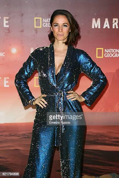 Andrea Delogu attends the premiere of 'Marte' on November 8 2016 in Rome Italy