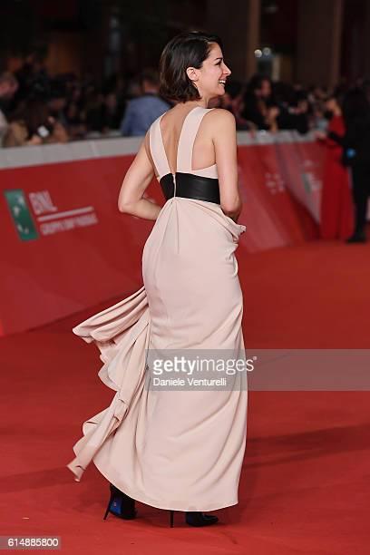 Andrea Delogu walks a red carpet for 'Sole Cuore Amore' during the 11th Rome Film Festival at Auditorium Parco Della Musica on October 15 2016 in...