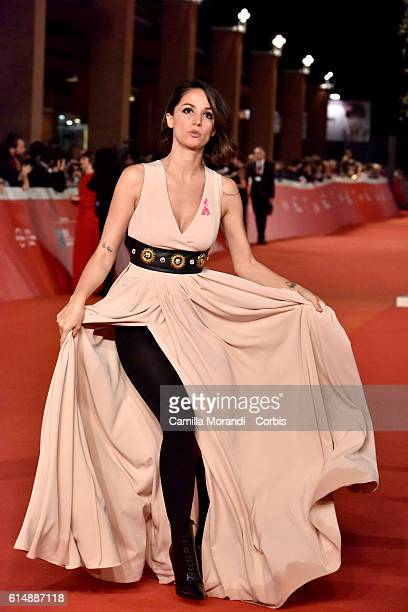 Andrea Delogu walks a red carpet for 'Sole Cuore Amore' on October 15 2016 in Rome Italy