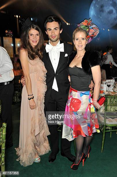 Andrea Dibelius Mark Francis Vandelli and Elisabeth Esteve attend the Reuben Foundation Adventure in Wonderland party in aid of Great Ormond Street...