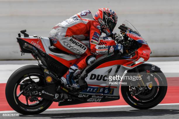 Andrea Dovizioso in action during free practice at Red Bull Ring