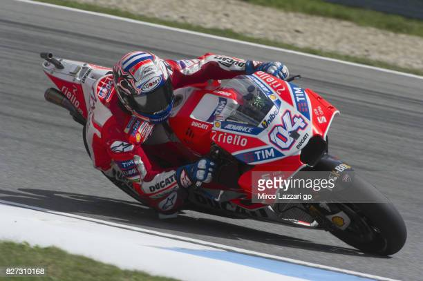 Andrea Dovizioso of Italy and Ducati Team rounds the bend during the MotoGp Tests In Brno at Brno Circuit on August 7 2017 in Brno Czech Republic