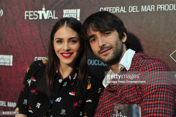 Andrea Duro and Aitor Luna attend the 'La Catedral del Mar' photocall during the FesTVal 2017 on September 8 2017 in VitoriaGasteiz Spain