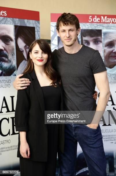 Andrea Duro and Nicolas Coronado attend the 'Pasaje al amanecer' photocall at Alma Club on April 17 2017 in Madrid Spain