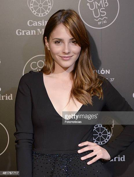 Andrea Duro attends Casino Gran MadridColon Goya's Party on March 31 2014 in Madrid Spain