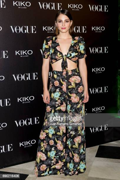 Andrea Duro attends 'Kiko Milano Anniversary' photocall at La Habanera on May 30 2017 in Madrid Spain