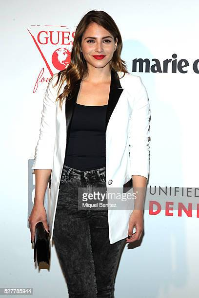 Andrea Duro attends the Guess Foundation Denim Day Charity at Salt Restaurant W Hotel on May 3 2016 in Barcelona Spain