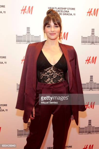 Andrea Duro attends the HM Flagship Store Opening at Passeig de Grcia 11 in Barcelona on February 1 2017 in Barcelona Spain