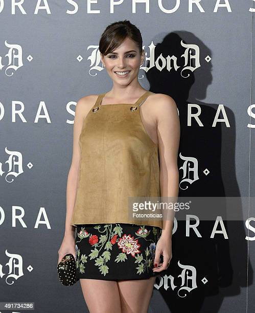 Andrea Duro attends the launch of the 'Kat Von D Beauty' make up collection at Callao Cinema on October 7 2015 in Madrid Spain