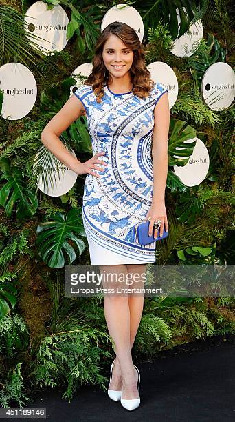 Andrea Duro attends the opening of PopUp House of Sun store by Sunglass Hut on June 24 2014 in Madrid Spain