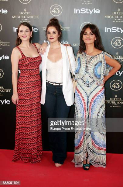 Andrea Duro Marta Torne and Monica Cruz attend 'El Jardin de Miguel Angel' terrace inauguration on May 24 2017 in Madrid Spain