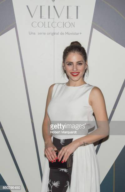 Andrea Duro poses during a photocall for the premiere of 'Velvet' at the Sala Phenomena on September 20 2017 in Barcelona Spain