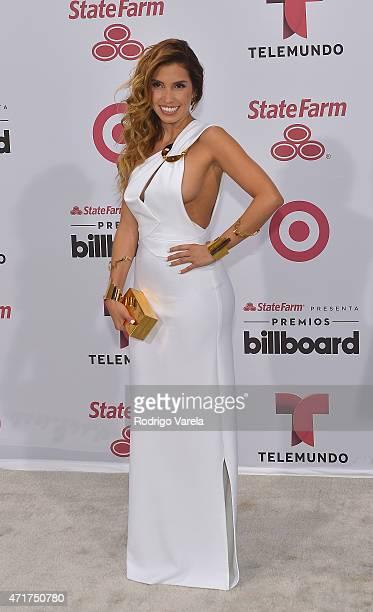 Andrea Escalona arrives at 2015 Billboard Latin Music Awards presented bu State Farm on Telemundo at Bank United Center on April 30 2015 in Miami...