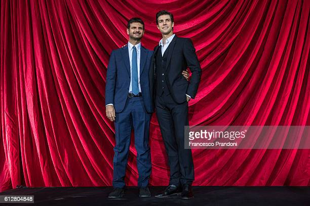 Andrea Fabiano and Roberto Bolle attend a photocall La Mia danza Libera for Andrea Fabiano and 'Roberto Bolle The King Of The Dance' on October 5...